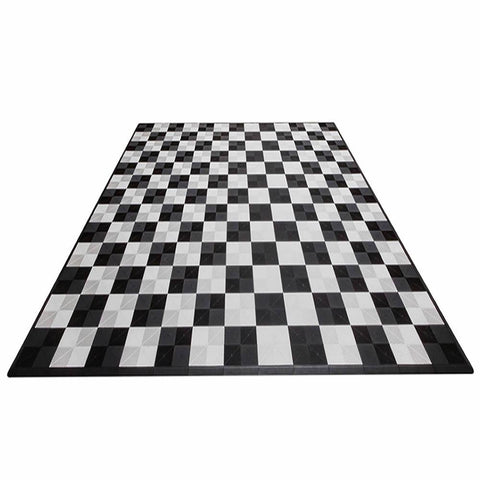 Swisstrax Ribtrax Two Car Garage Mat Parking Mat Checkered Front View