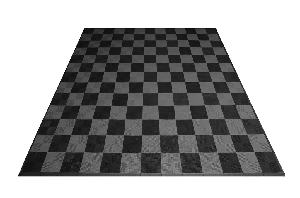 Checkered Two Car Garage Mat: Transform Any Garage and Park in Style