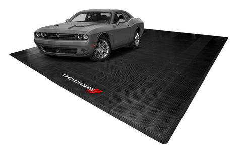 Dodge Diamond Plate Double Garage Mat & Parking Mat