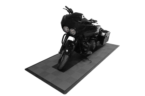 Drain-thru Motorcycle Mat Kit
