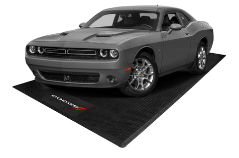 Dodge parked on Garage Mat & Parking Mat