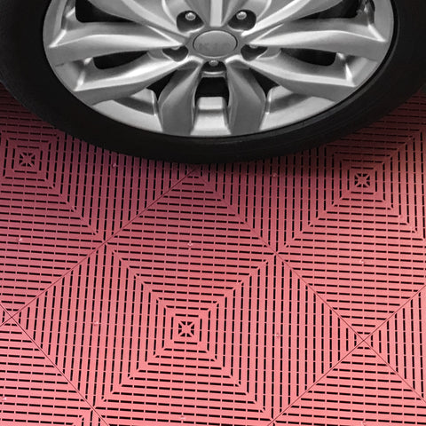 Drain-thru Interlocking, Modular, Plastic Garage Floor Tiles