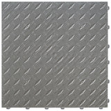 Slate Grey diamond plate flooring: diamond plate garage flooring tile