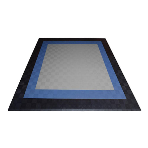 Two Car Garage Mat Double Border Drain-thru