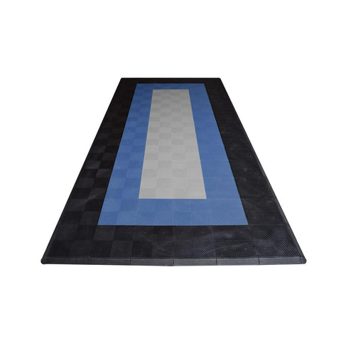 One Car Garage Mat Double Border Drain-thru