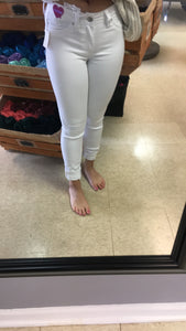 Easy Going White Skinnies (regular white skinnies)
