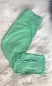Mint Curvy Yoga Band Leggings