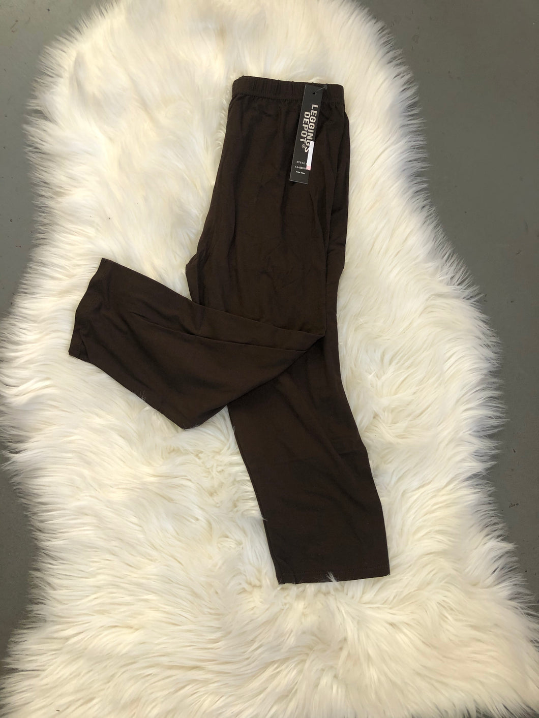 Curvy Brown Capris
