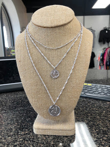 Double Silver Coin Necklace