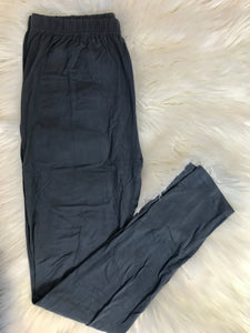 Charcoal One Size Leggings