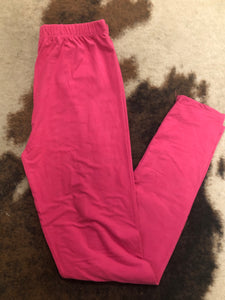 Fuchsia Long Leggings