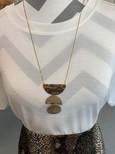 Brown Snakeskin Necklace