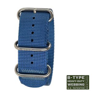 "#110HP - Mariner Blue w/ high polish hardware, 1"" - 26 mm size for A-4 & A-5 Cases"