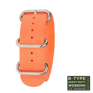 "#134HP - Solar Orange w/ high polish hardware, 7/8"" - 22 mm size for A-2, A-3, A-6 & B-1 Cases"