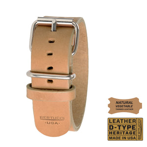 "#189H - Sahara Sand™ veg. tanned w/ high polish hardware, 7/8"" - 22 mm size for A-2, A-3, A-6 & B-1 Cases"