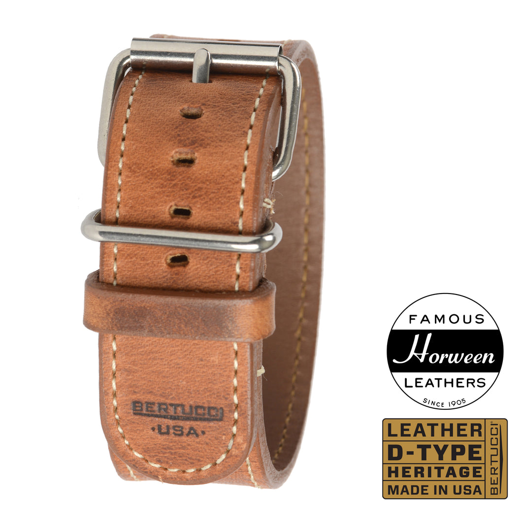 #201H - American Heritage Tan Horween® w/ high polish hardware, 1