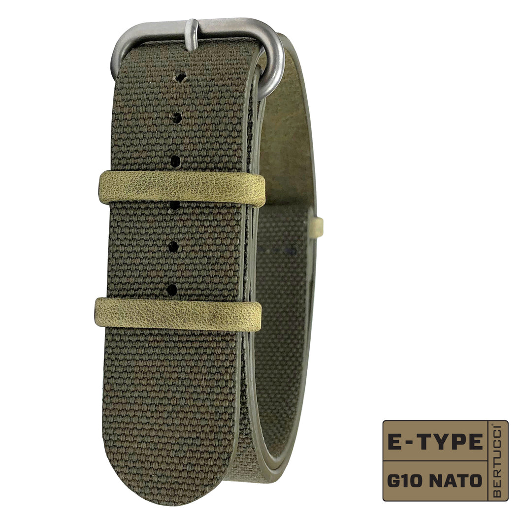 #251N - Olive Drab Organic Canvas, 7/8