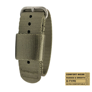 "#271 - Field Drab Comfort-Webb™ webbing band w/ matte hardware, 3/4"" - 19 mm size for A-1 & C-1 Cases"
