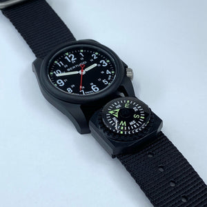 "#95C - Black w/ matte hardware, 7/8"" - 22 mm size for A-2, A-3, A-6 & B-1 Cases + Free Compass"