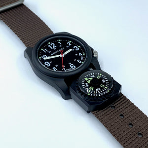 "#166C - Field Brown w/ matte hardware, 7/8"" - 22 mm size for A-2, A-3, A-6 & B-1 Cases + Compass"