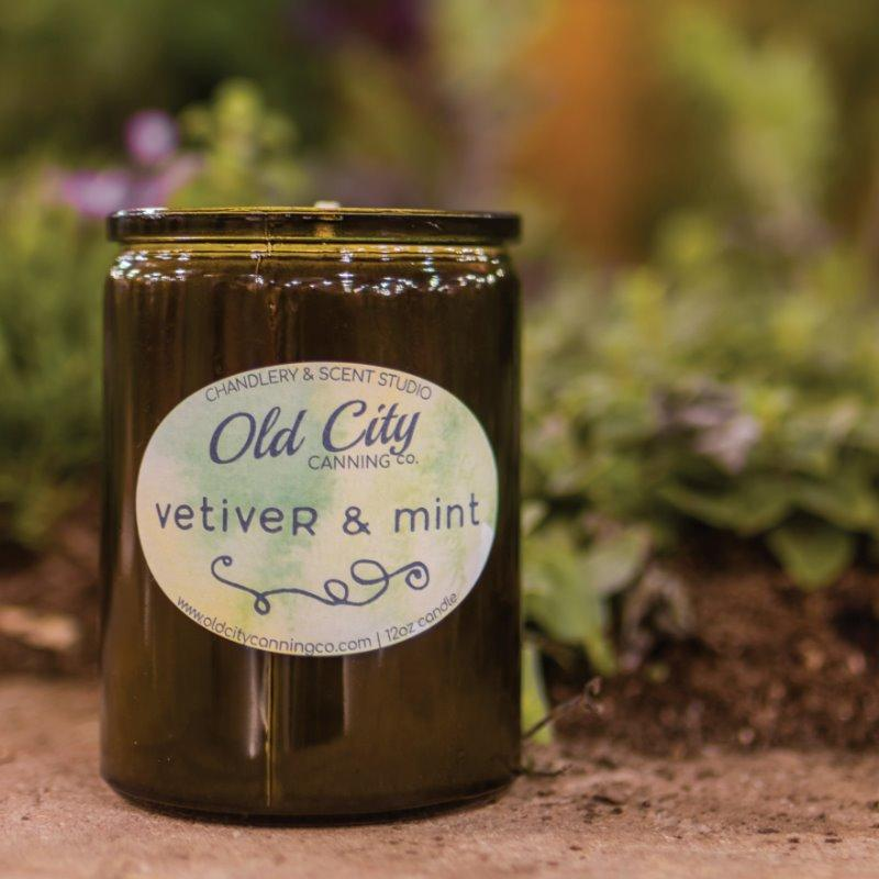 Vetiver + Garden Mint Candle Candle Old City Canning Co. Garden Series Jar