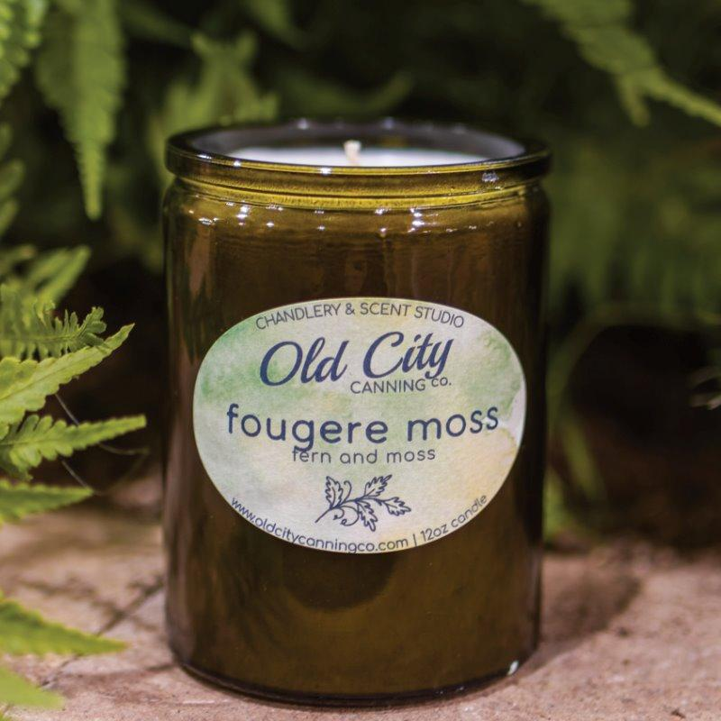 Fougere Moss Candle Candle Old City Canning Co. Garden Series Jar