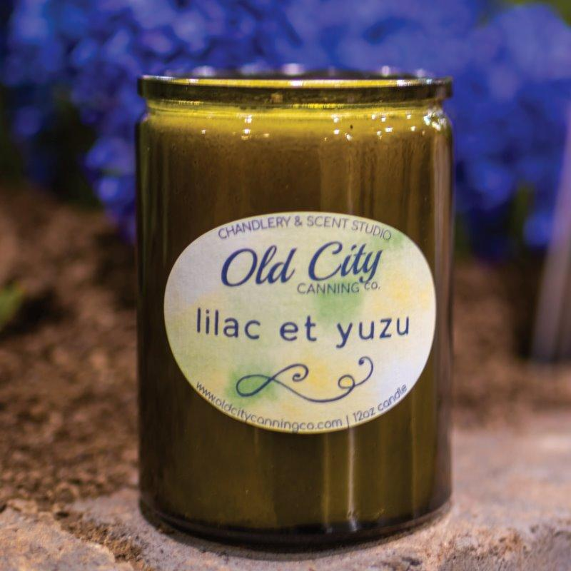 Lilac et Yuzu Candle Candle Old City Canning Co. Garden Series Jar