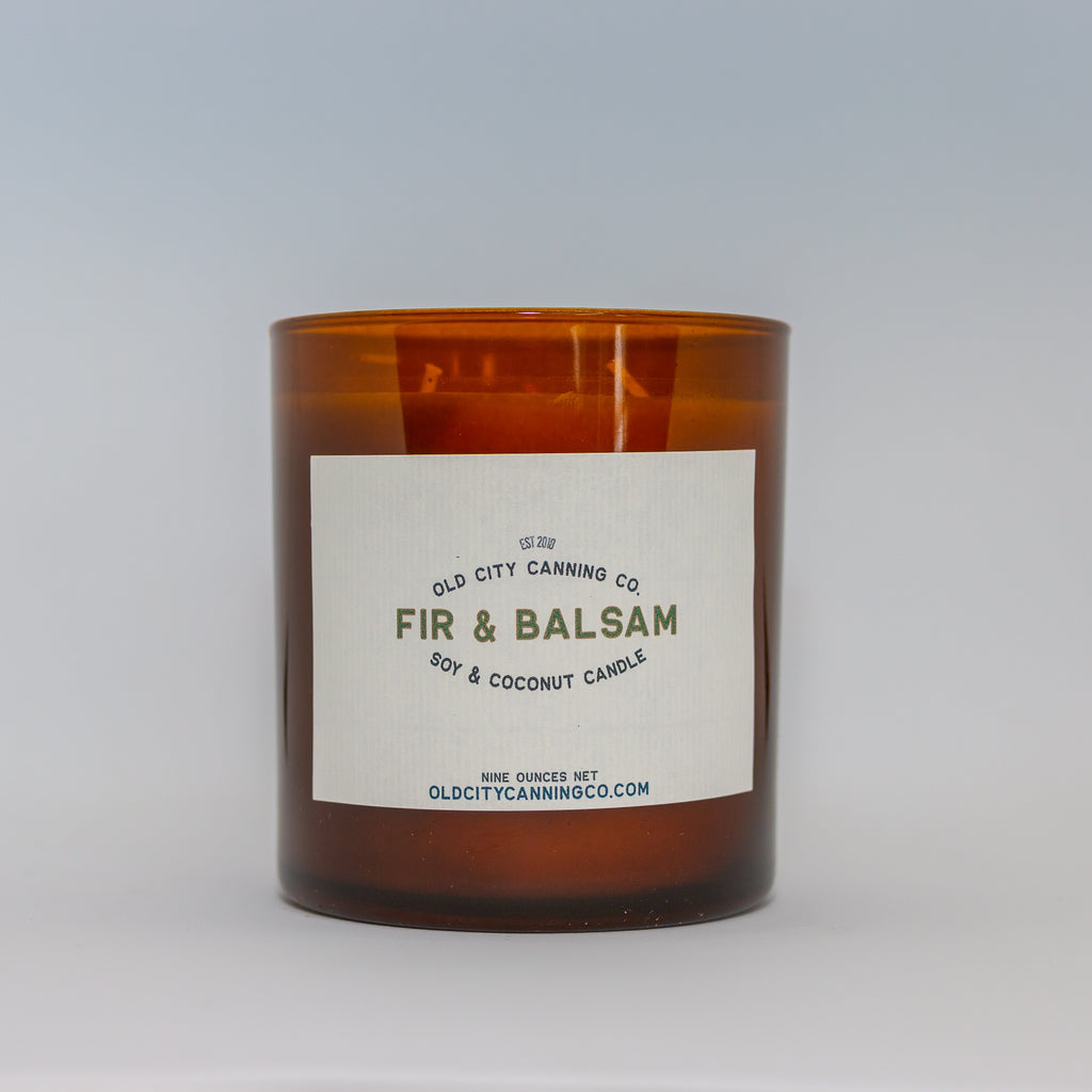 Fir + Balsam Candle Candle Old City Canning Co. Medium Double Wick with Box