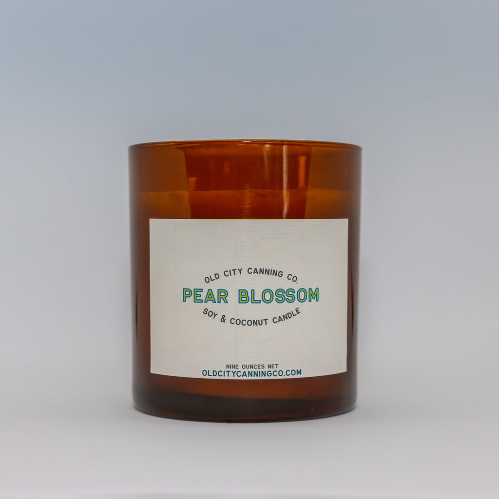 Pear Blossom Candle Candle Old City Canning Co. Medium Double Wick