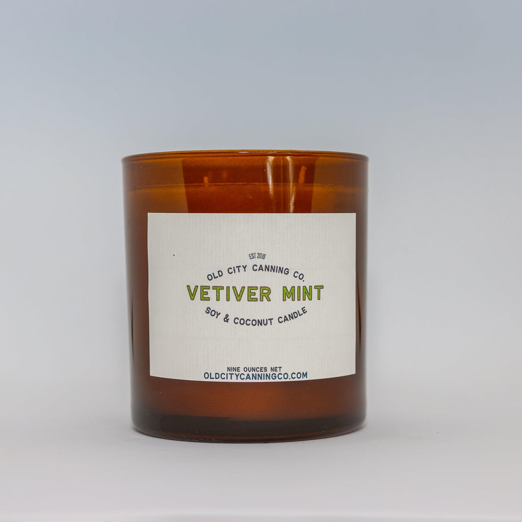 Vetiver + Mint Candle Candle Old City Canning Co. Double Wick Gift Box