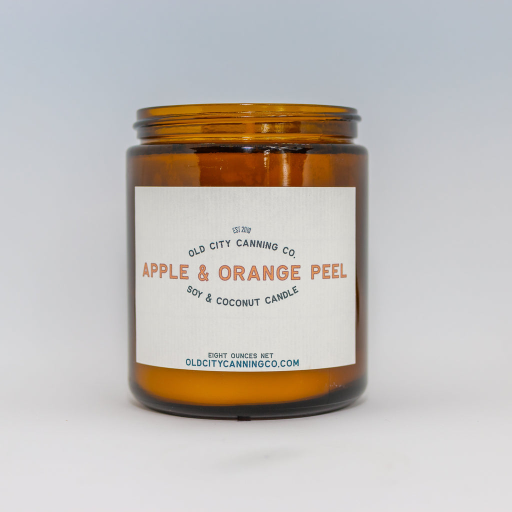 Apple + Orange Peel Candle Candle Old City Canning Co. Medium Jar