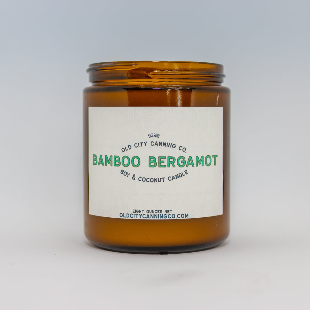 Bamboo Bergamot Candle Candle Old City Canning Co. Medium Amber Jar