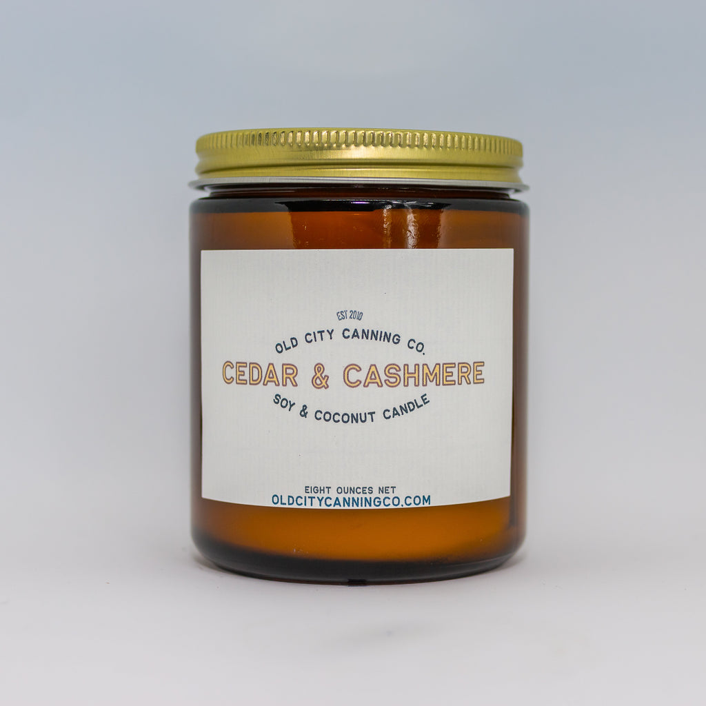 Cedar + Cashmere Candle Candle Old City Canning Co. Medium Amber Jar