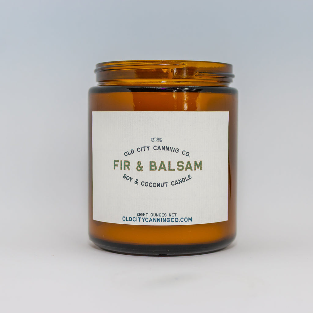Fir + Balsam Candle Candle Old City Canning Co. Medium Amber Jar