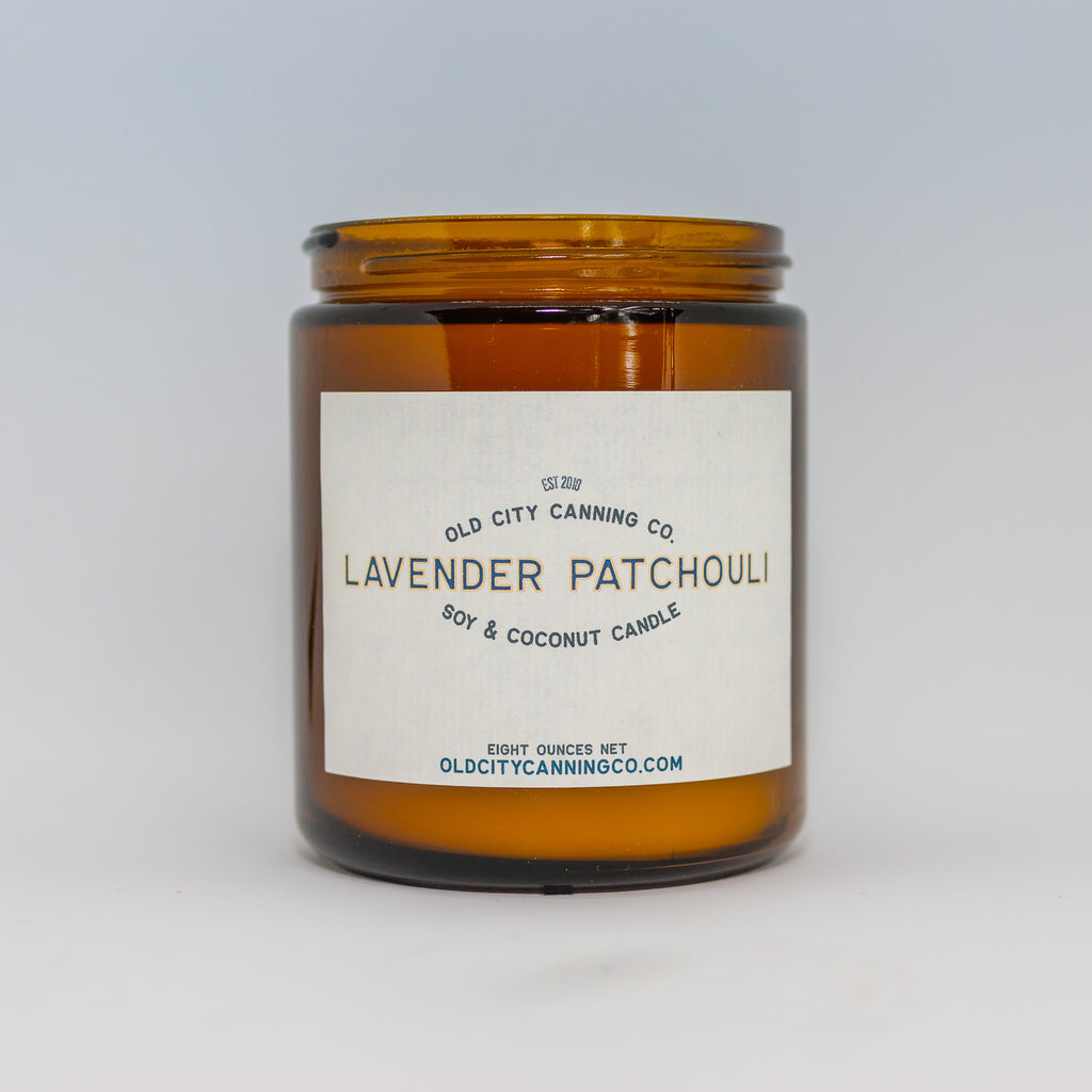 Lavender Patchouli Candle Candle Old City Canning Co. Medium Amber Jar