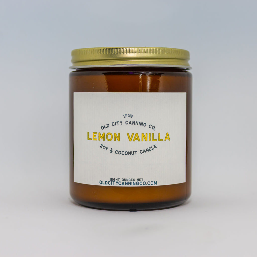 Lemon Vanilla Candle Candle Old City Canning Co. Medium Amber Jar