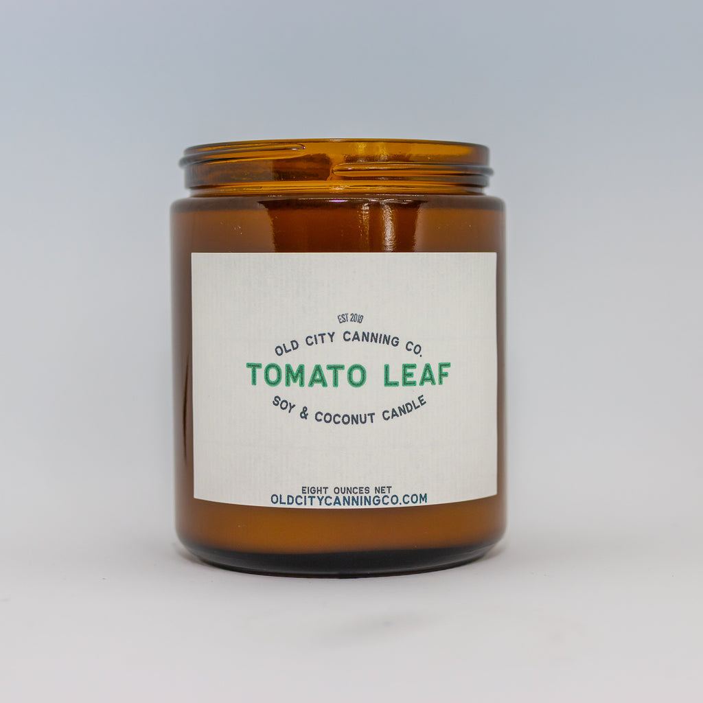 Tomato Leaf Candle Candle Old City Canning Co. Medium Amber