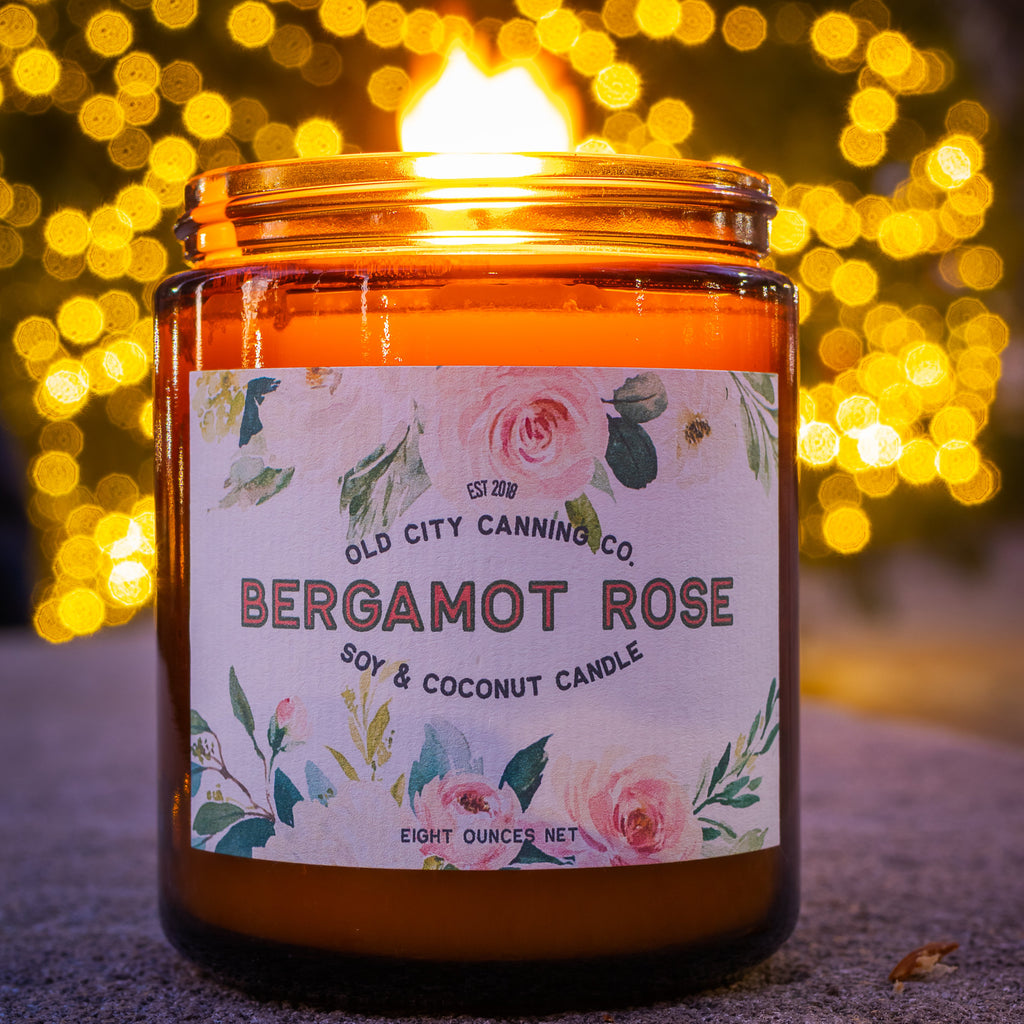 Bergamot Rose Candle Candle Old City Canning Co.