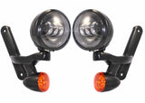 "Bagger Brothers LED 4"" Driving Lights & Turn Signals (Mounts Included) - Fits Harley-Davidson® FLH Touring Models, Bagger Brothers"