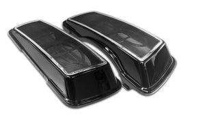 "Bagger Brothers Dual 6""x9"" Speaker Lids with Metal Grill for 1996-2013 Harley-Davidson® Touring Models - Chrome Trim, Bagger Brothers"