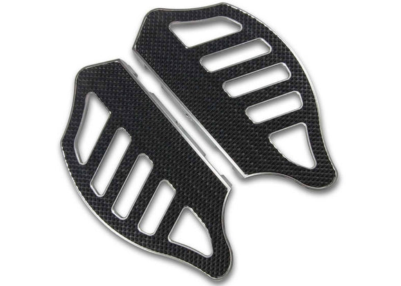 Bagger Brothers Passenger's Floorboards (Black Anodized and Machined Finish), Bagger Brothers
