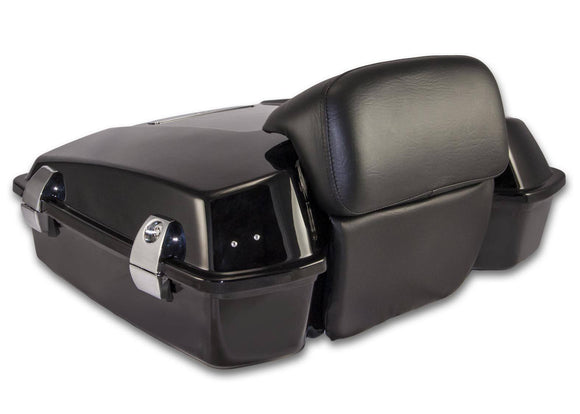 Bagger Brothers Razor-Style Tour Pak with Chopped Backrest for 1996-2013 Harley-Davidson® Touring Models, Bagger Brothers