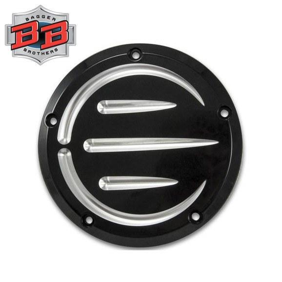 Bagger Brothers 5-Hole Billet Aluminum Derby Cover (Black Anodized), Bagger Brothers