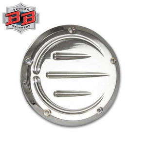Bagger Brothers 5-Hole Billet Aluminum Derby Cover (Chrome), Bagger Brothers