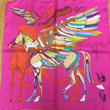 Silk Scarf with Horse Design