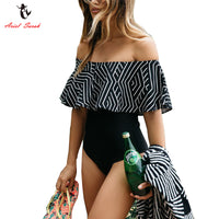 Women's One Piece Off Shoulder Swimsuit