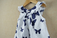 Girls Cotton Dress with Butterflies
