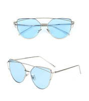 Cat Eye Sunglasses with Metal Frames