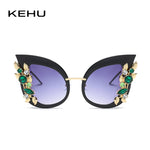 Dramatic Embellished Cat Eye Sunglasses
