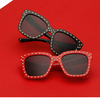 Women's Sunglasses with Gold Rivets